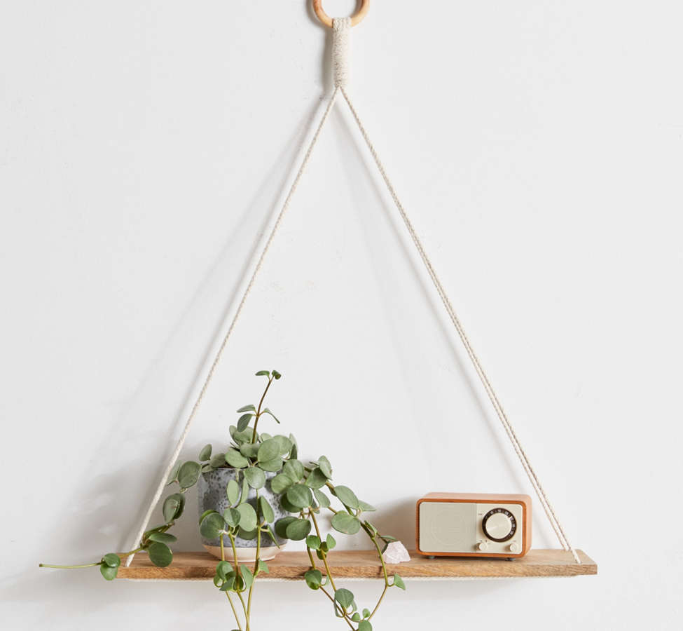 Slide View: 1: Elie Wooden Hanging Shelf