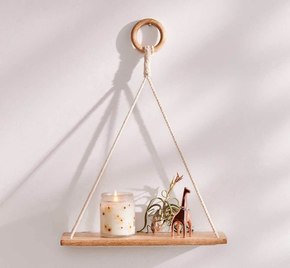 Slide View: 3: Elie Wooden Hanging Shelf