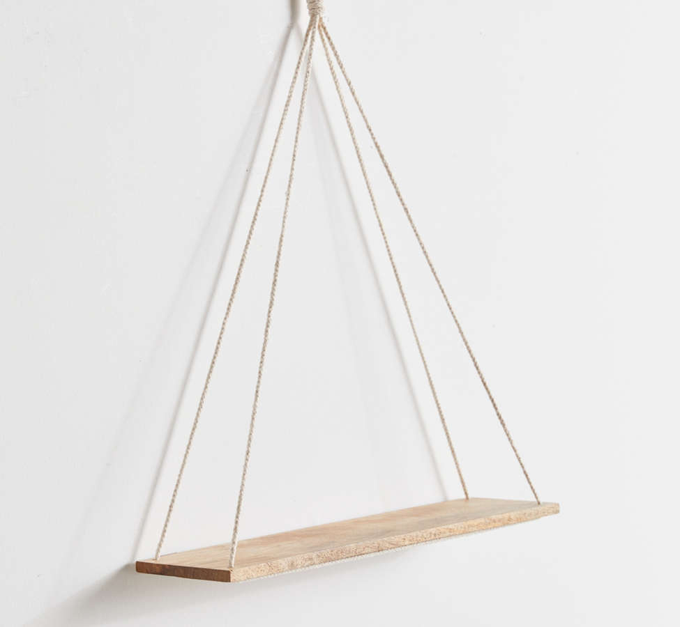Slide View: 4: Elie Wooden Hanging Shelf