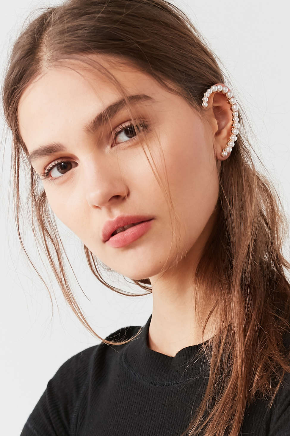 Pearl Statement Ear Cuff Urban Outfitters
