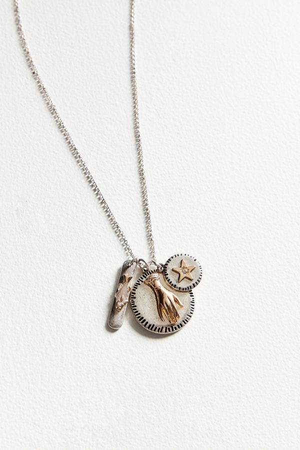 Cluster pendant necklace urban outfitters cluster pendant necklace aloadofball Images