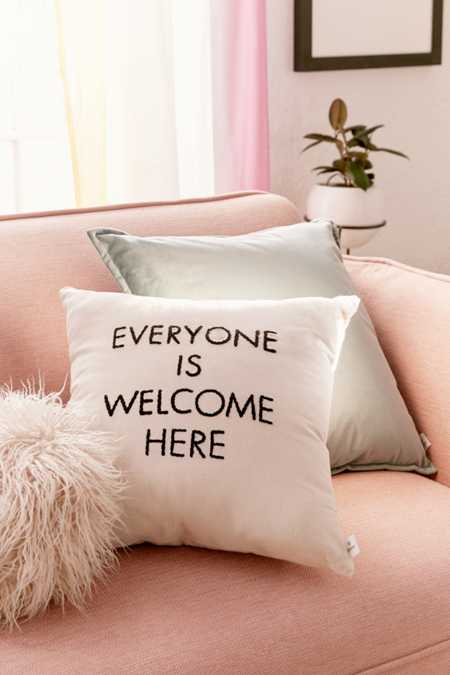UO Community Cares + Housing Works Everyone Is Welcome Pillow