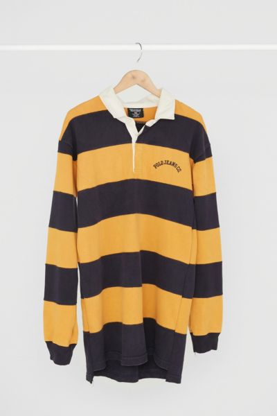 Vintage Ralph Lauren '90s Navy + Gold Rugby Dress - Assorted One Size at Urban Outfitters