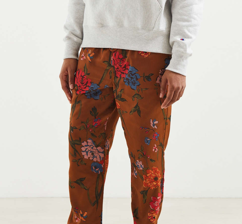 Slide View: 1: UO Satin Baggy Pant