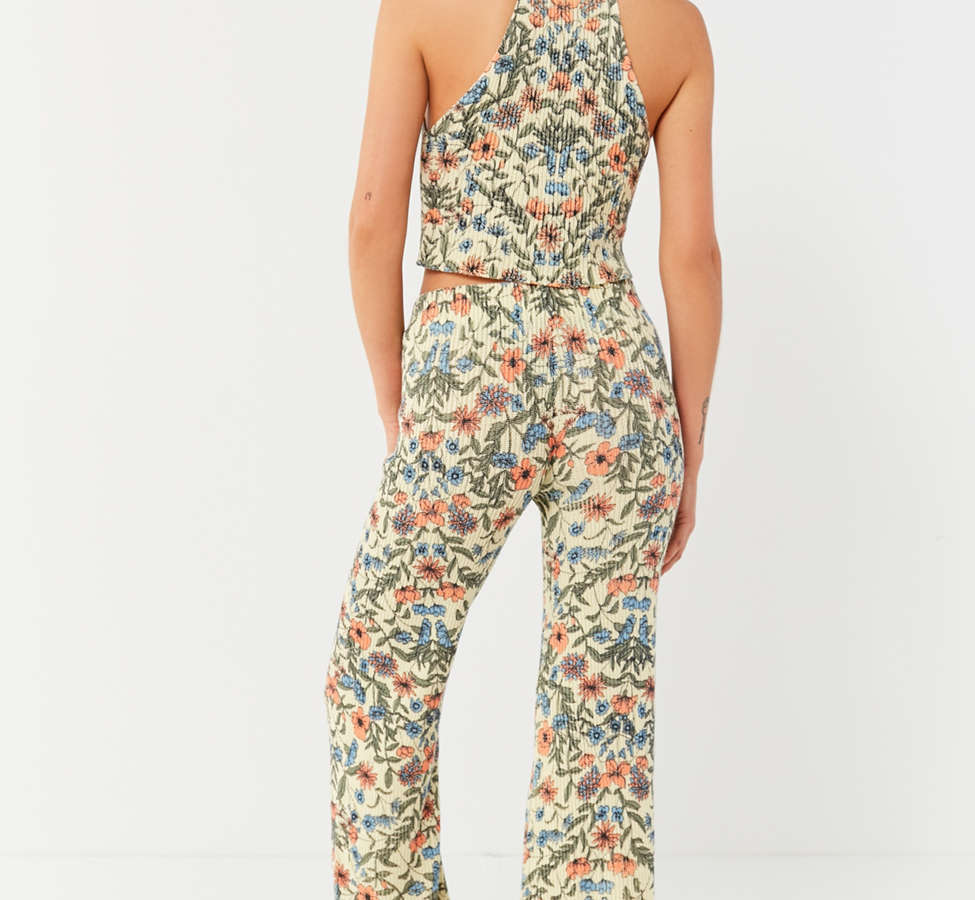 Slide View: 2: UO Floral Sweater Flare Pant