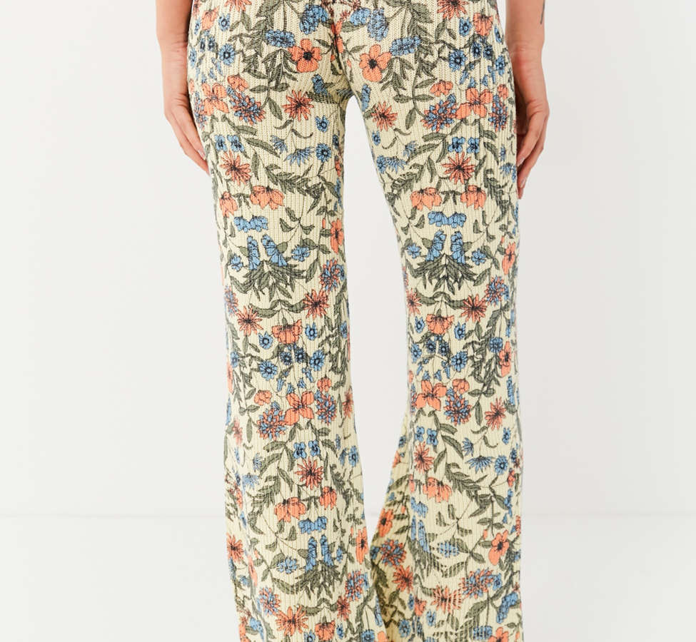 Slide View: 5: UO Floral Sweater Flare Pant