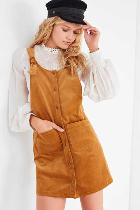 Lost + Wander Wylde Corduroy Overall Dress