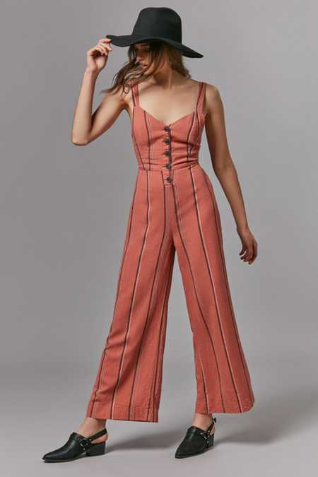 UO Ashley Button-Down Tie-Back Jumpsuit