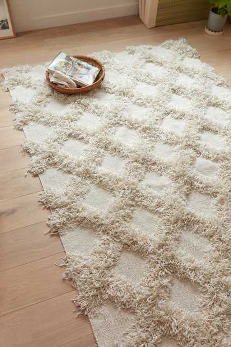 Casey Diamond Shag Rug