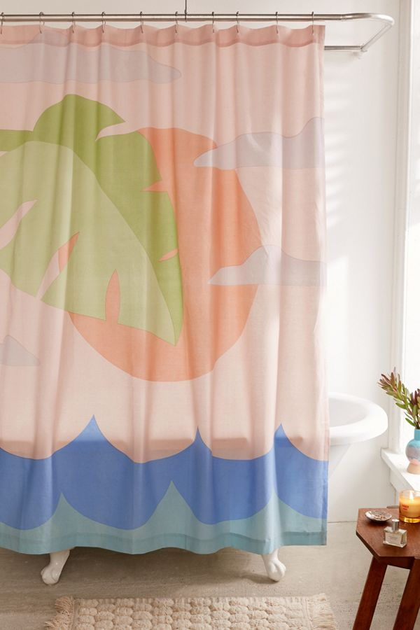 Your Urban Outfitters Gallery Beach Scene Shower Curtain
