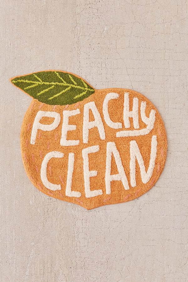 Peachy Clean Bath Mat Urban Outfitters