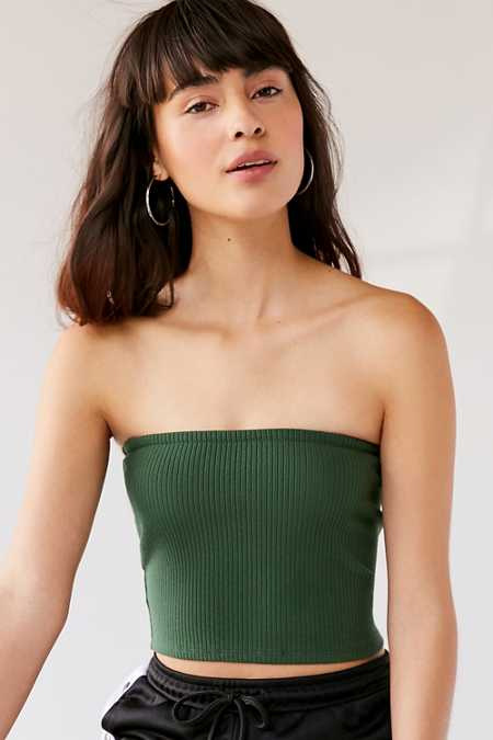 UO Hallie Ribbed Knit Tube Top