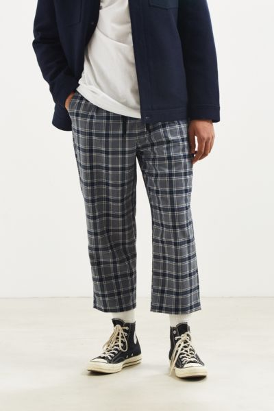 UO Plaid Menswear Pant - Grey Multi S at Urban Outfitters
