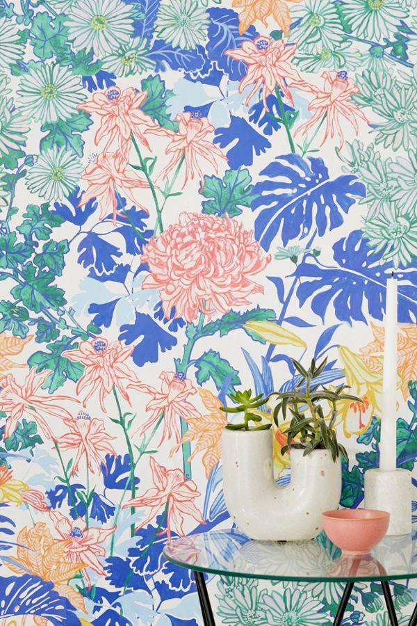 Slide View 1 Laurel Kimono Fl Removable Wallpaper
