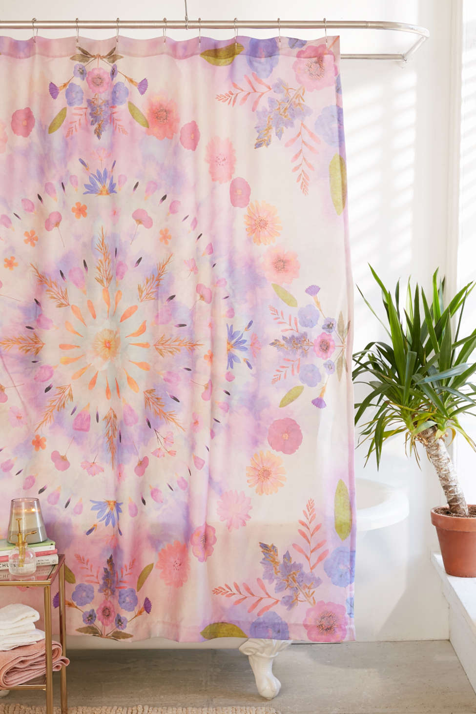 Slide View: 1: Pressed Floral Shower Curtain