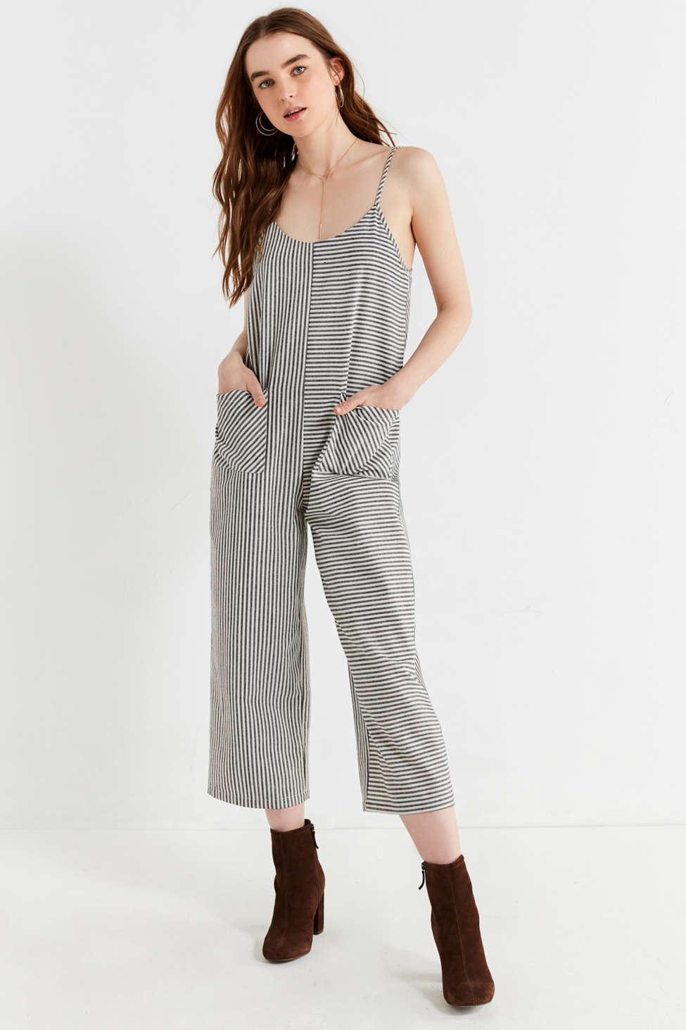 Evidnt Shapeless Striped Jumpsuit Urban Outfitters Canada