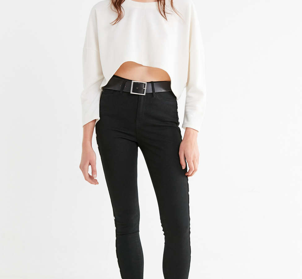 Slide View: 2: Truly Madly Deeply Roxy Cropped Pullover Tee