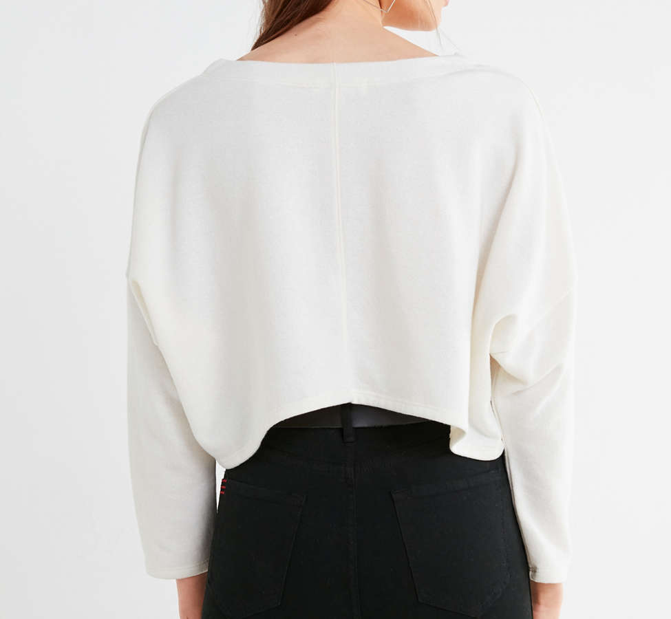 Slide View: 3: Truly Madly Deeply Roxy Cropped Pullover Tee