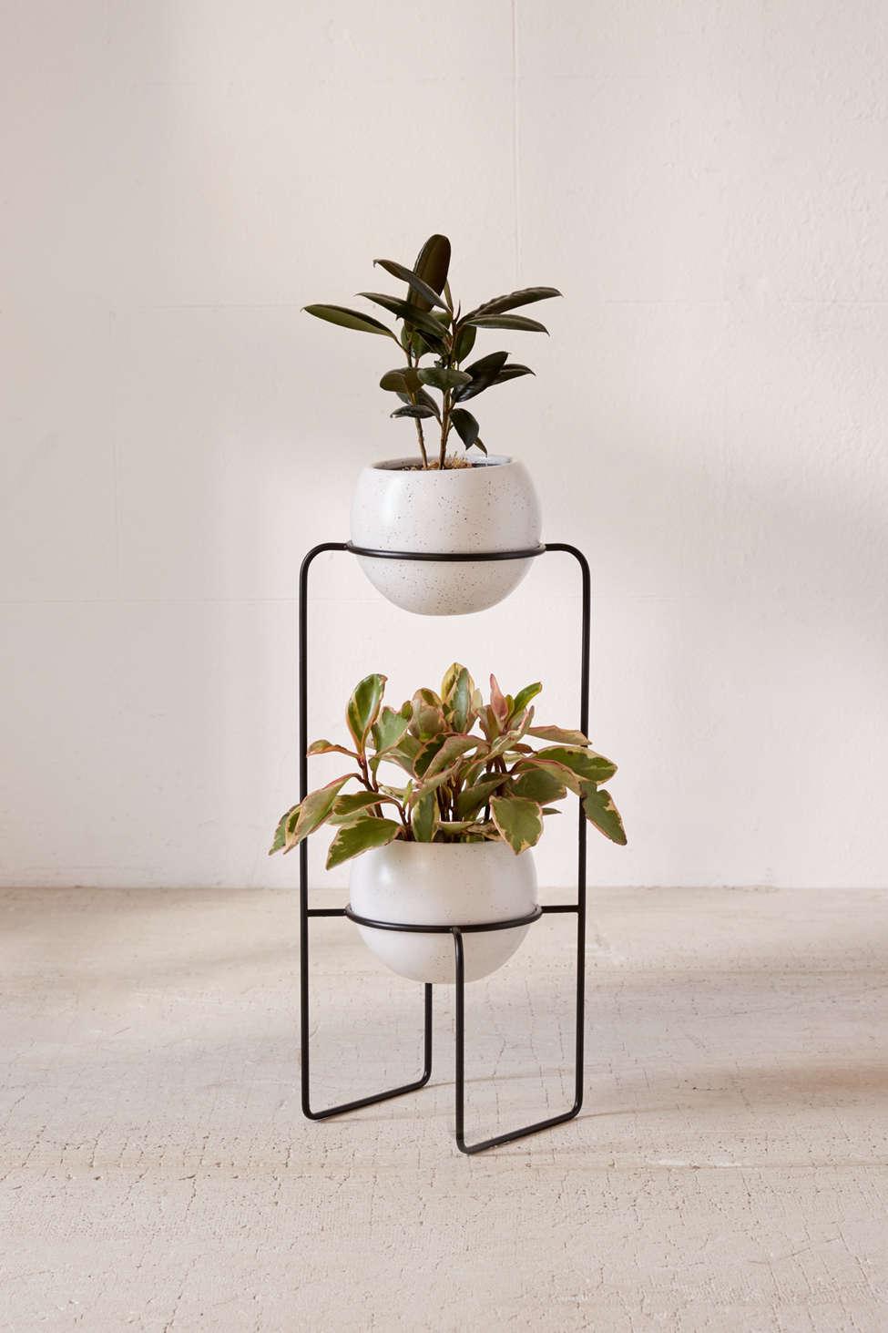 Slide View: 1: Mila Dual Standing Planter