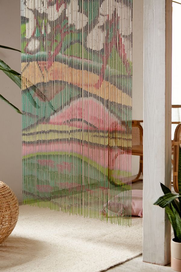 dp bb divider peony curtains beaded decor strands home com curtain doorway flowers way nt natural room door amazon kitchen bamboo
