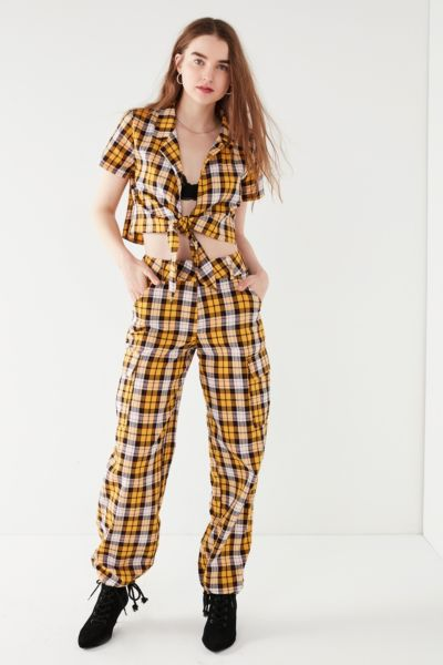 I.AM.GIA Keidis Plaid Cargo Pant - Yellow XS at Urban Outfitters