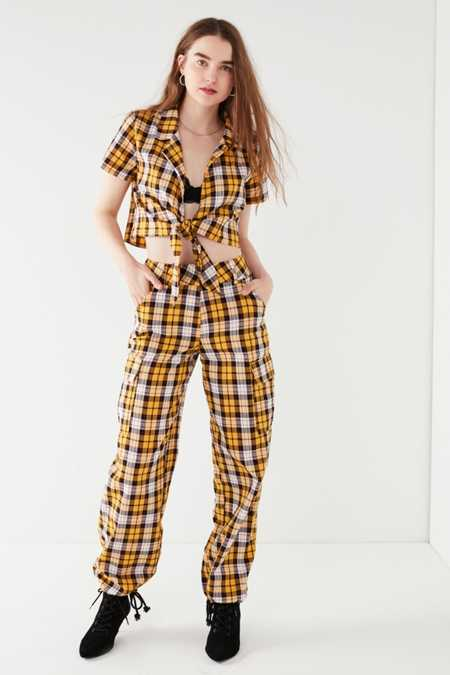 Slide View: 1: I.AM.GIA Keidis Plaid Cargo Pant