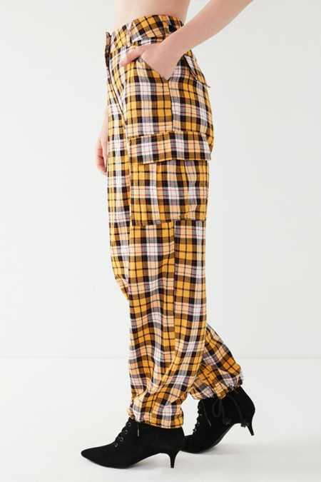 Slide View: 3: I.AM.GIA Keidis Plaid Cargo Pant