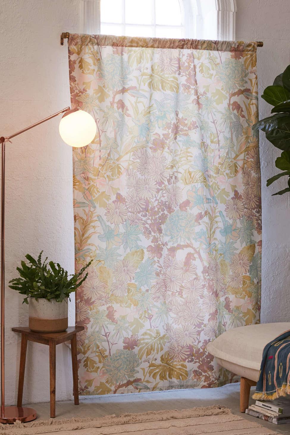 Slide View: 1: Laurel Kimono Floral Blackout Window Curtain