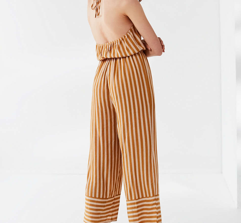 Slide View: 2: UO Striped Halter Jumpsuit
