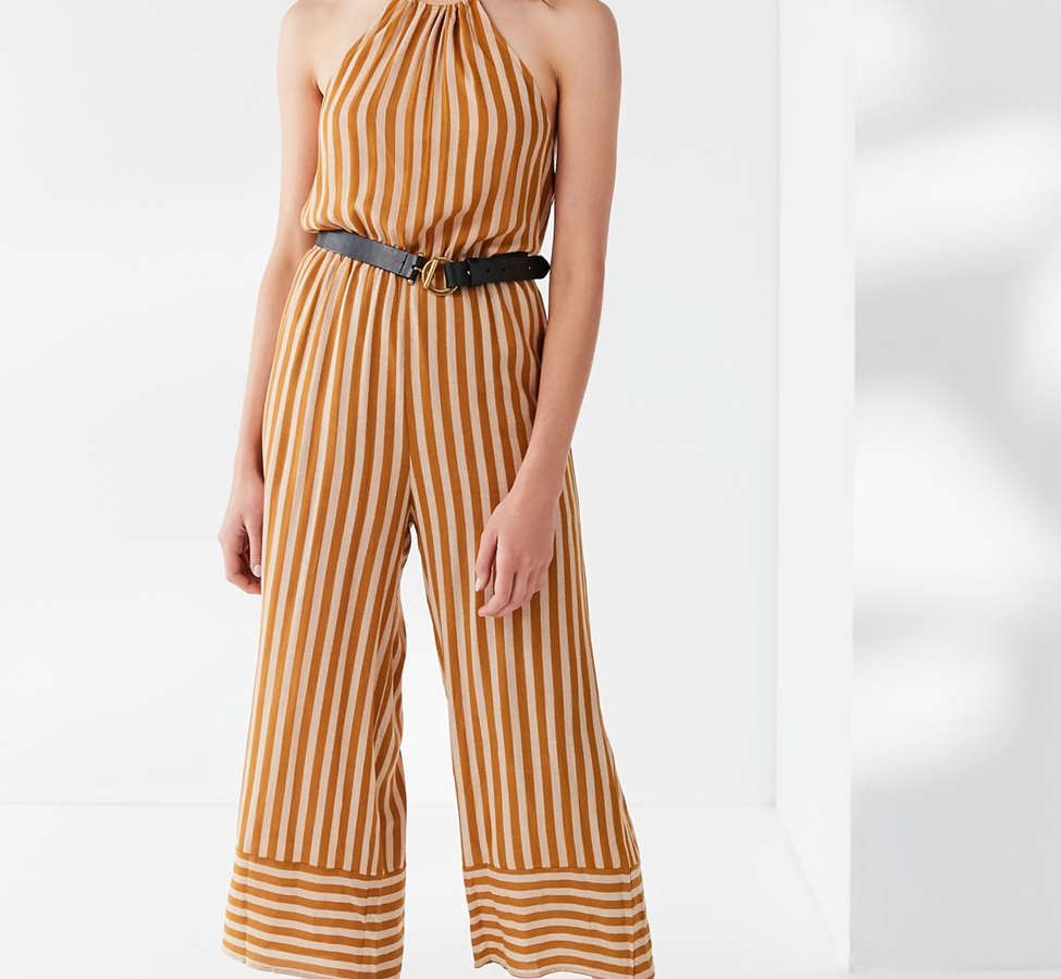 Slide View: 3: UO Striped Halter Jumpsuit