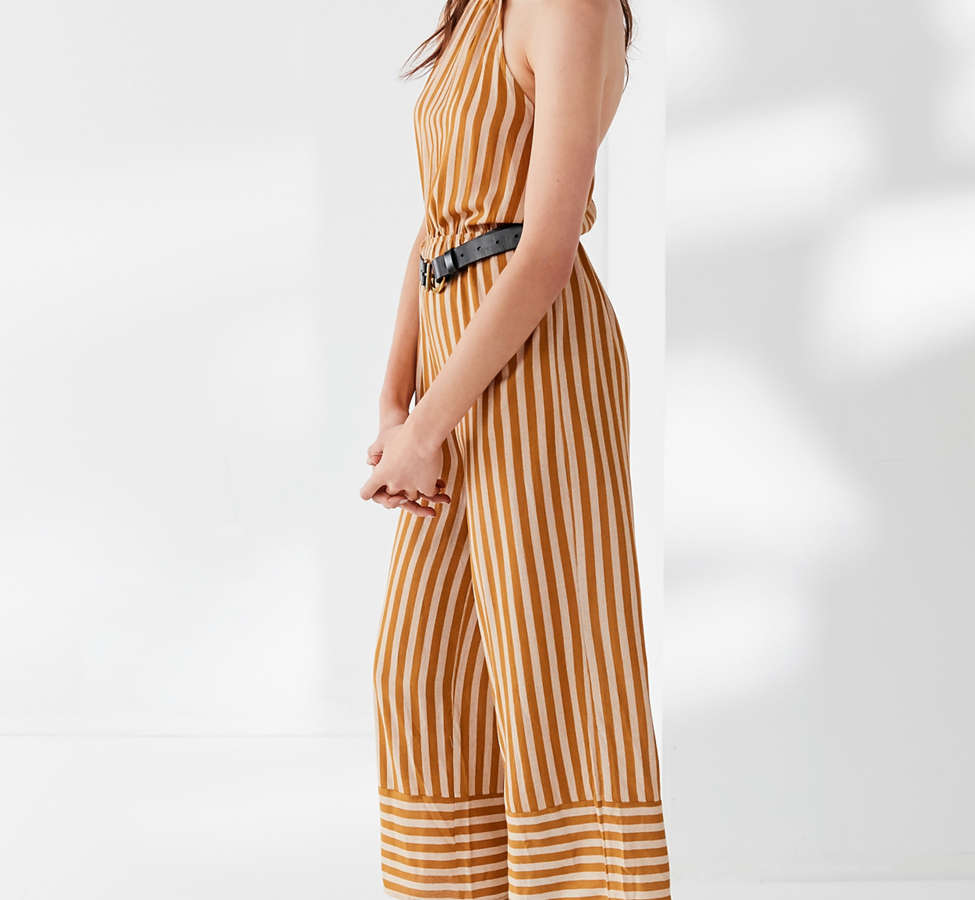 Slide View: 5: UO Striped Halter Jumpsuit