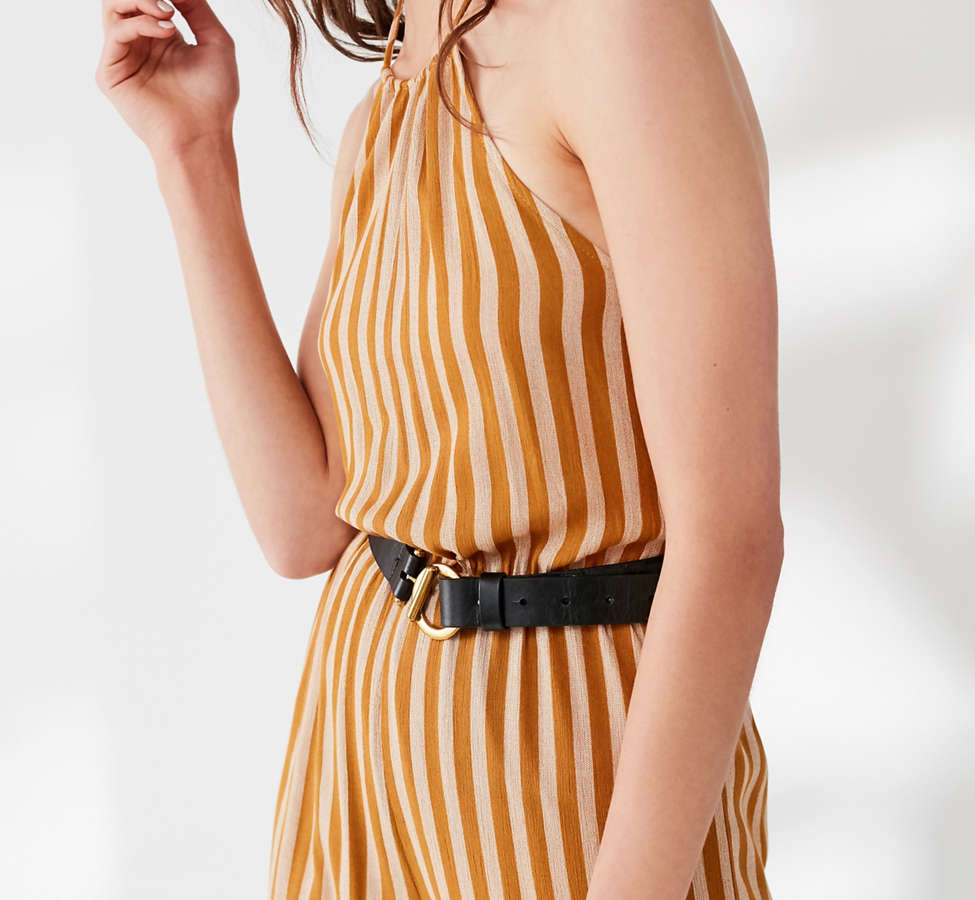 Slide View: 6: UO Striped Halter Jumpsuit