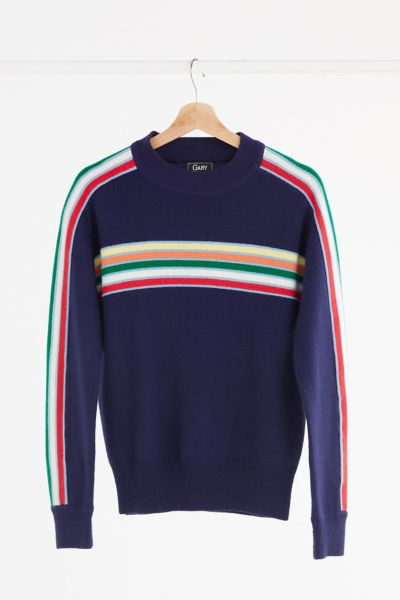 Vintage '70s Navy Striped Sweater - Assorted One Size at Urban Outfitters