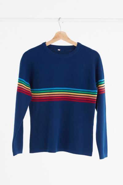 Vintage '70s Rainbow Stripe Sweater - Assorted One Size at Urban Outfitters