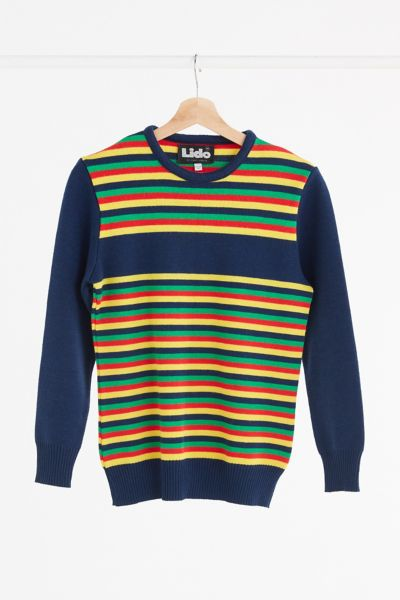 Vintage '70s Multi Stripe Sweater - Assorted One Size at Urban Outfitters