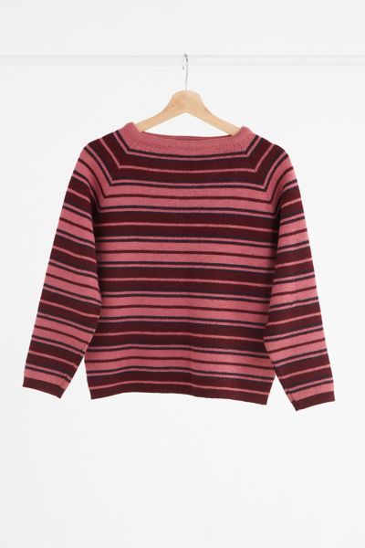 Vintage '70s Pink Stripe Sweater - Assorted One Size at Urban Outfitters