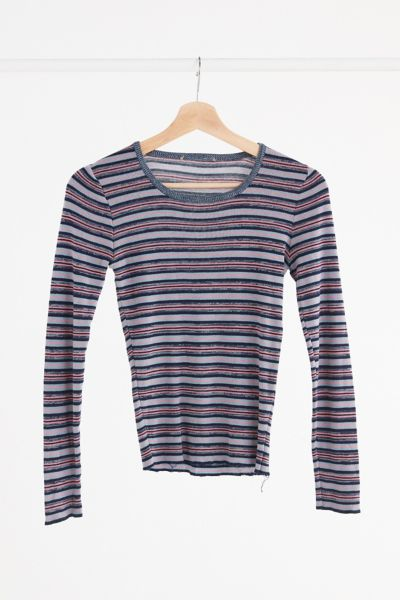 Vintage '70s Lightweight Striped Sweater - Assorted One Size at Urban Outfitters