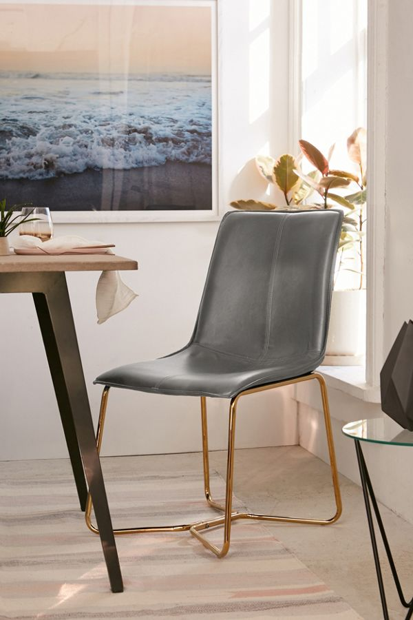 Alicia Faux Leather Chair Urban Outfitters