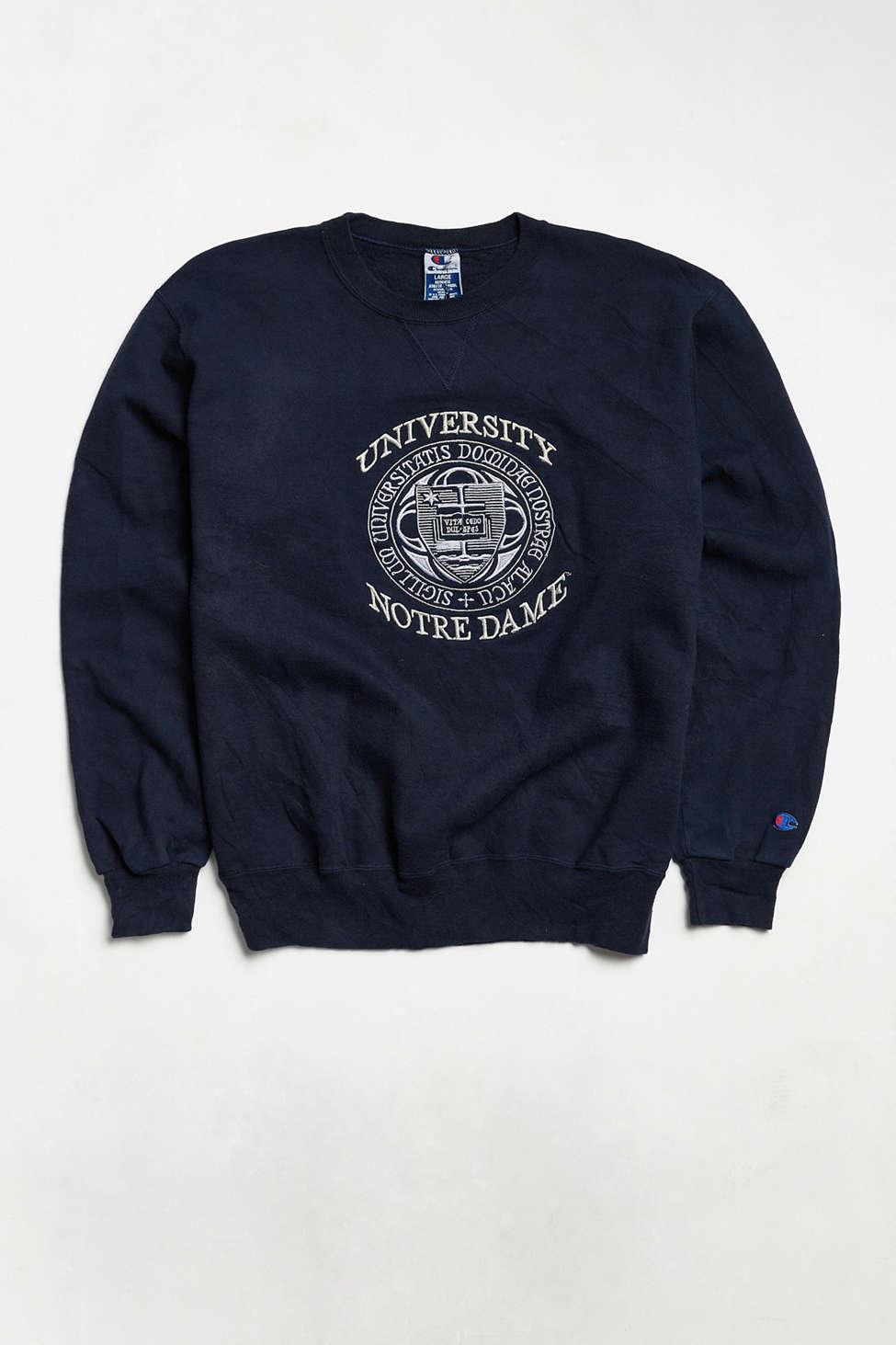 Vintage Champion University Of Notre Dame Crew Neck Sweatshirt