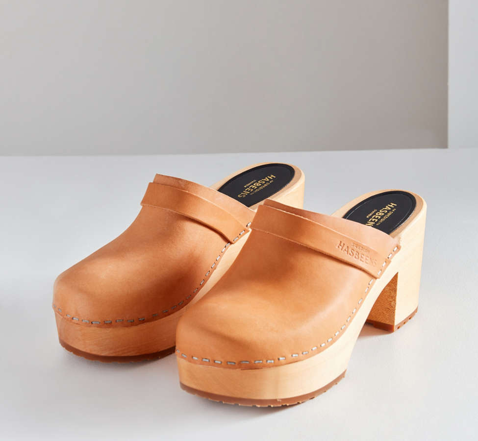 Slide View: 1: Swedish Hasbeens Louise Leather Clog