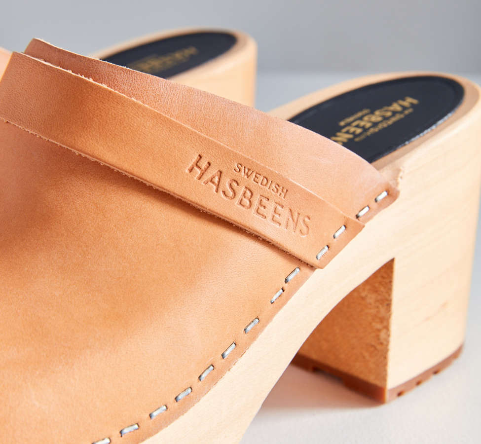 Slide View: 3: Swedish Hasbeens Louise Leather Clog