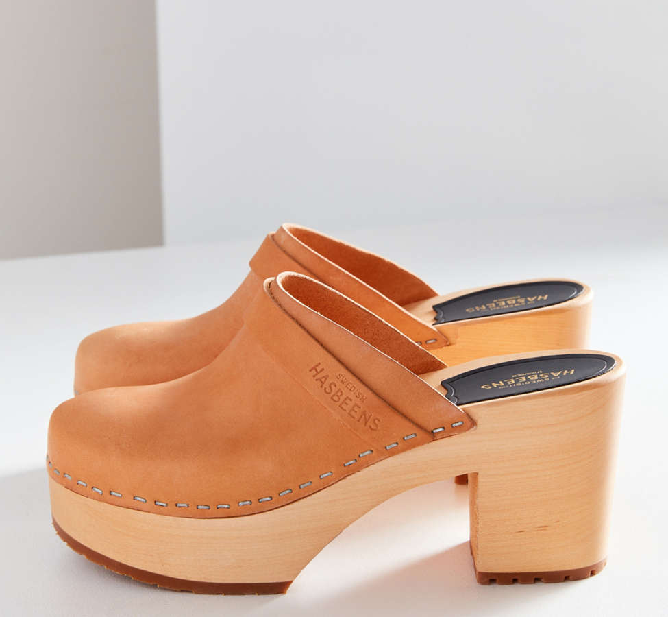 Slide View: 5: Swedish Hasbeens Louise Leather Clog