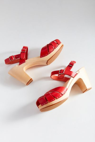 Swedish Hasbeens Katja Heel - Red 36 at Urban Outfitters