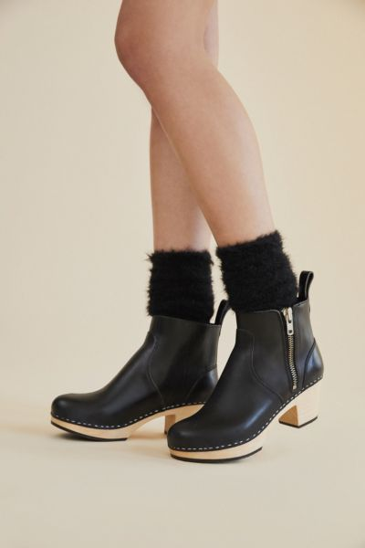 Swedish Hasbeens Zip It Emy Ankle Boot - Black 36 at Urban Outfitters