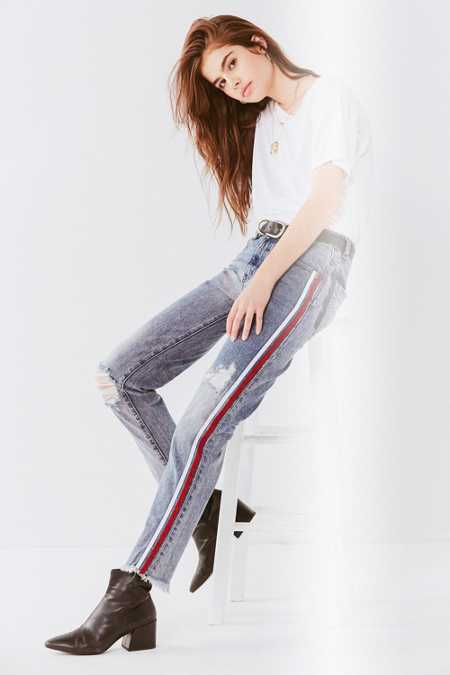 One Teaspoon Awesome Baggies Side Stripe Jean