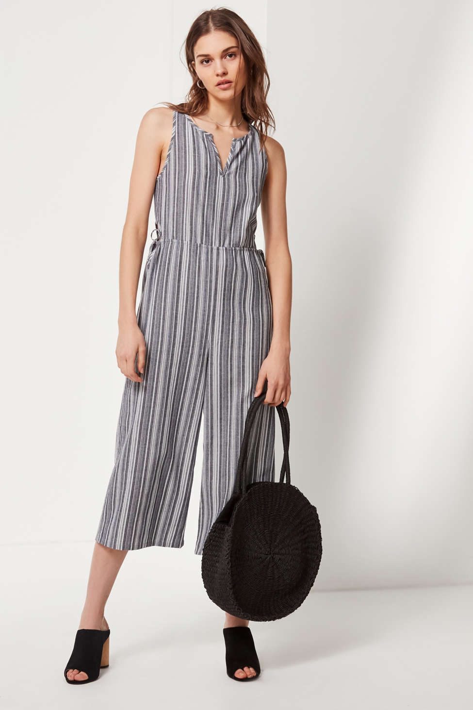 Lucca Couture Kendall Striped Jumpsuit Urban Outfitters
