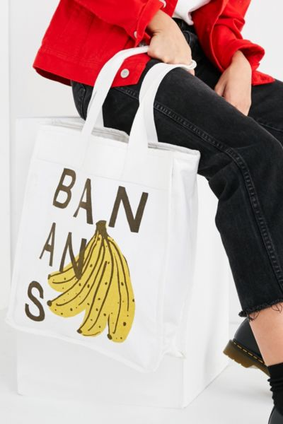 Bananas Tote Bag - Neutral One Size at Urban Outfitters