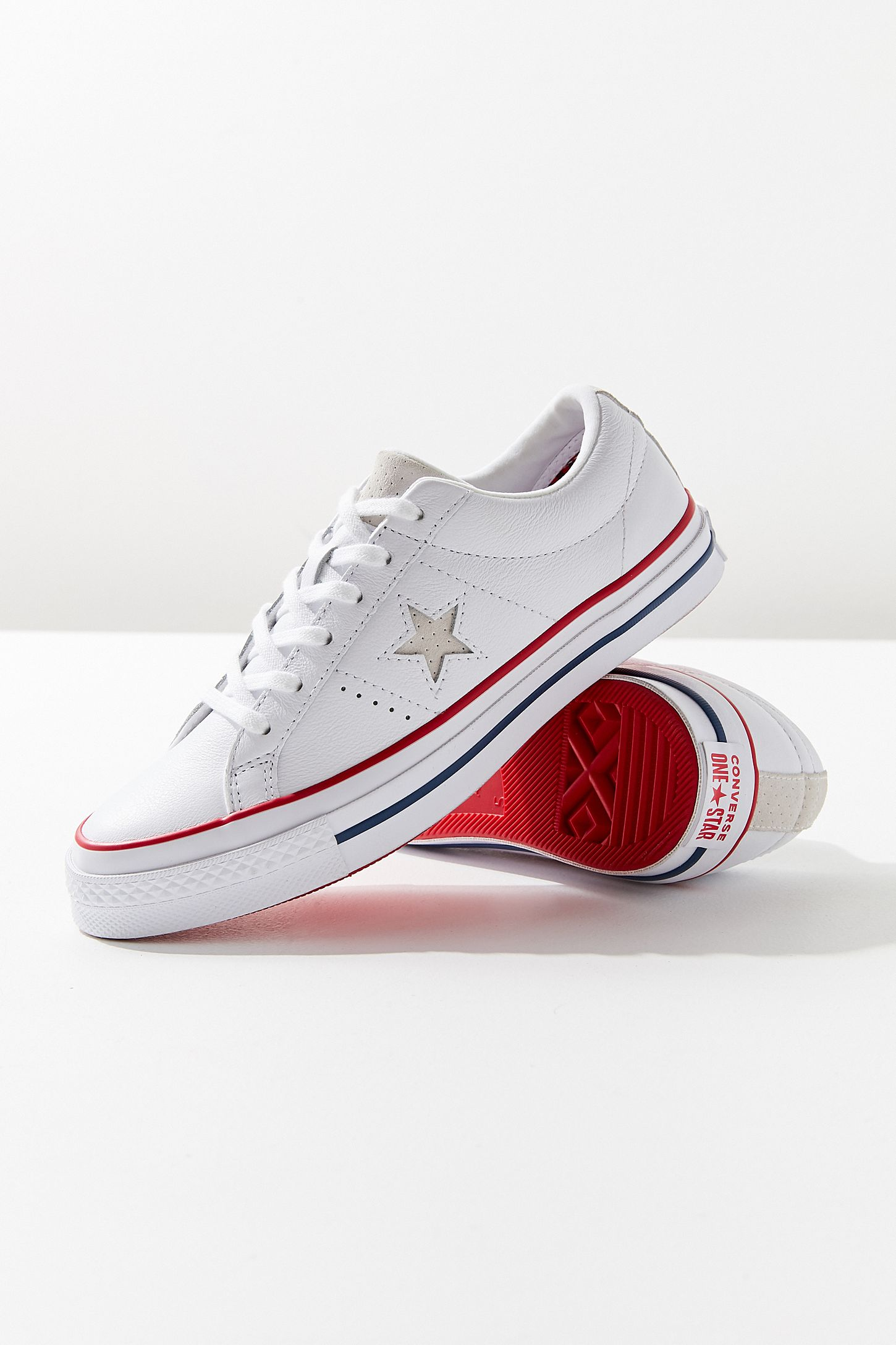 Converse One Star Leather Tennis Sneaker FeCRE3Z3k