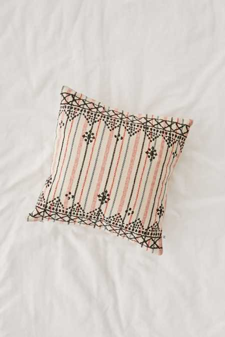 Mina Embroidered Lurex Stripe Pillow