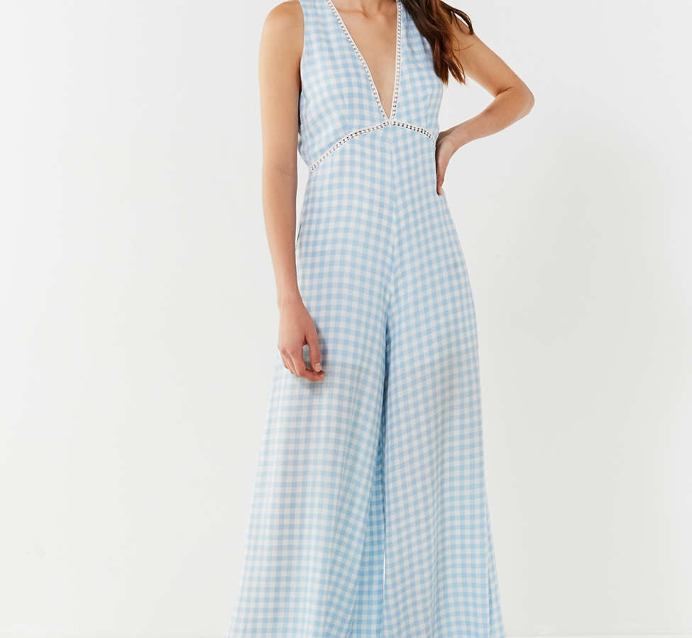 Slide View: 4: Lost + Wander Fiesta Gingham Jumpsuit